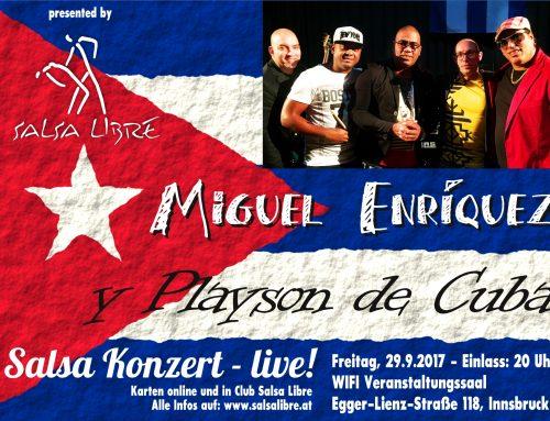 Salsa Konzert – live! Miguel Enriquez y Playson de Cuba
