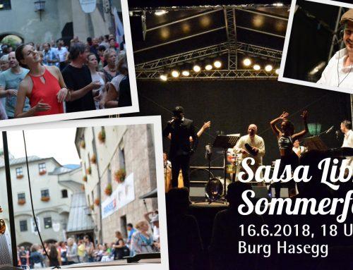 "Salsa Libre Sommerfest in der Burg Hasegg mit Live-Konzert ""La Banda del Sol"""