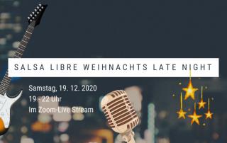 Salsa Libre Weihnachts Late Night Banner mit Datum